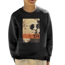 Steve McQueen 1965 Player Poster Sepia Kid's Sweatshirt