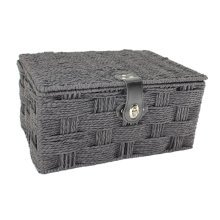Small Black Paper Rope Picnic Basket