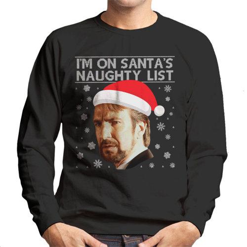 Christmas Die Hard Hans Gruber Naughty List Men's Sweatshirt