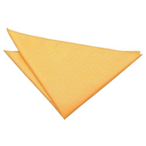 Marigold Greek Key  Pocket Square
