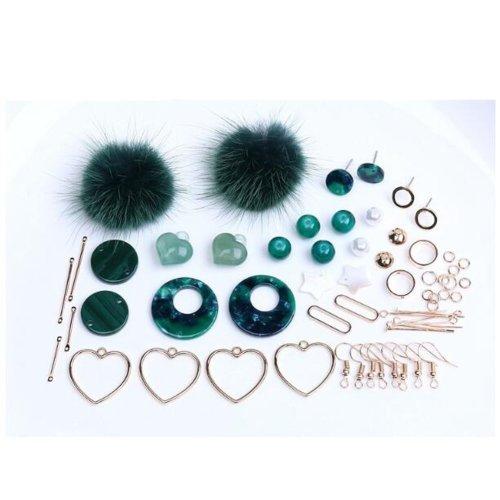 Nice Green Earring Supplies Kit for making Earrings