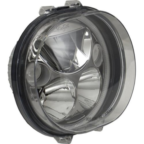 Vision X Lighting XMC-575ODB Single Black & Chrome Face 5.75 in. Oval VX LED Headlight with Low-High-Halo