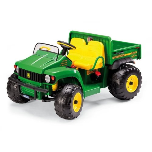 John Deere 12V Gator HPX Kids Electric Tractor Two Seater Green/Yellow - Peg Perego