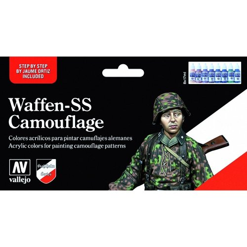 Val70180 - Av Vallejo Model Color Set - Waffen Ss Camouflage