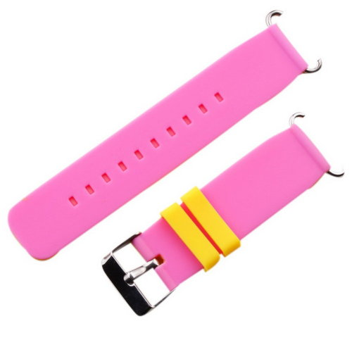 Children Watch Bands Quick Release Silicone Double Color Replacement Straps Pink