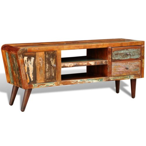 Reclaimed Home Furniture Vintage Wood TV Stand TV Shelf TV Storage Cabinet