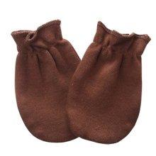 Warm Unisex-Baby Gloves Newborn Mittens Soft No Scratch Mittens, Brown