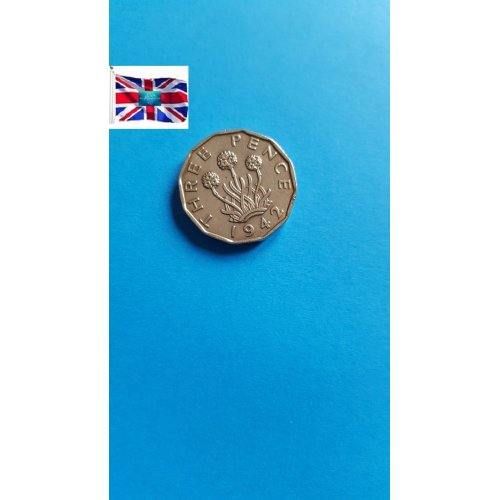 Great Britain 3 Pence - George VI with 'IND:IMP'