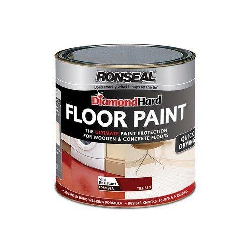 Ronseal 35754 Diamond Hard Floor Paint Tile Red 2.5 Litre