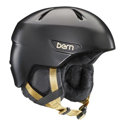 Bern Bristow w/ Black Liner - Satin Black Large