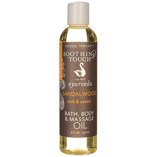 Soothing Touch Bath Body and Massage Oil  Sandalwood 8 fl oz (236 ml) Liquid