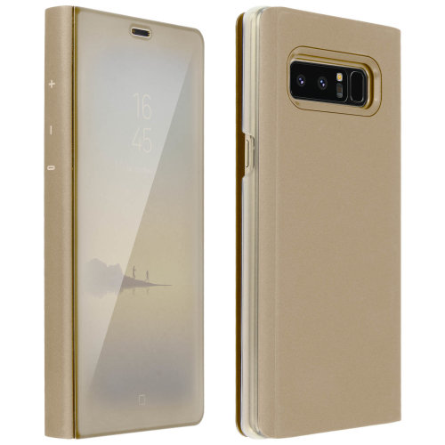 buy popular 6cd5f fcc92 Flip Case, Mirror Case for Samsung Galaxy Note 8, Standing Cover – Gold