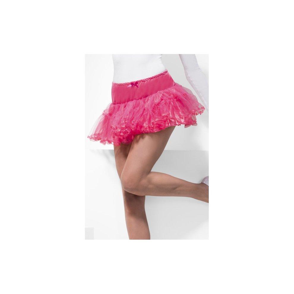 473549e1da ... Adult's Hot Pink Tulle Petticoat - tulle petticoat pink fancy dress  ladies tutu skirt underskirt womens. >
