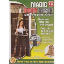 Magic Door Mesh White -  door mesh insect magic magnetic black screens curtains 2 new fastenings bug fly x 1 pair