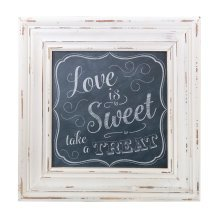 Love Sweet Square Framed Sign