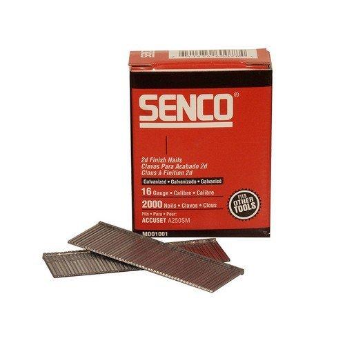 Senco RX25EAA Straight Brad Nails Galvanised 16G x 63mm Pack of 2,000