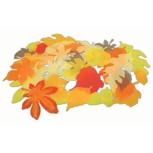 Autumn Display Vellum Leaves - Red/Orange (Pack of 250)
