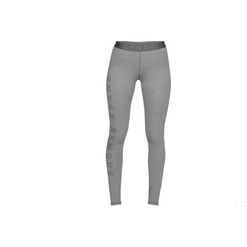 Under Armour Favourite Wordmark Legging 1329318-012 Womens Grey leggings