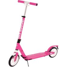 Ultimate iScoot X50 Pink Adult City Push Kick Scooter with Large 200MM Wheels, Dual Front and Rear Spring Comfort Suspension, Kick Stand, Mud / Rain