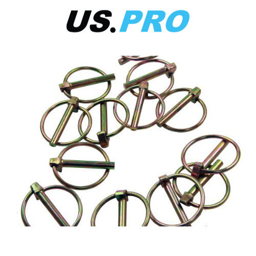 US PRO 50pc 10.00mm Lynch Pin Ring Clip Set 9025