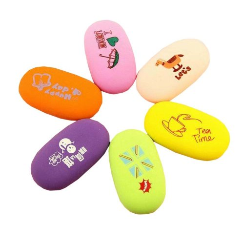 6 PCS Colorful Erasers Office/School Supply Gift for Students