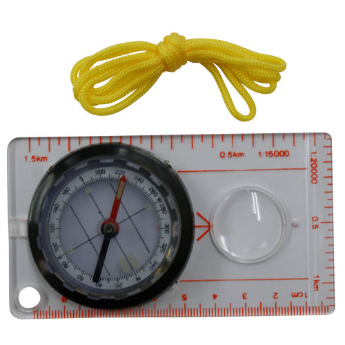 Survival Map Pocket Compass Hiking Camping Outdoor Scouts