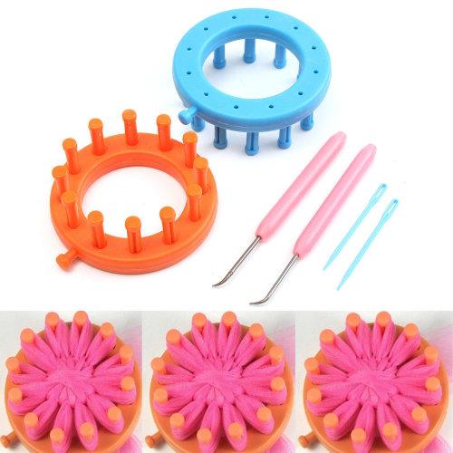 Loom Set Knitter Knitting Flower Loom Kit Make EMBELLISHMENTS Fr Hat Scarves New