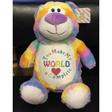 Pastel Teddy - Personalised With Message, Name or Birth Date