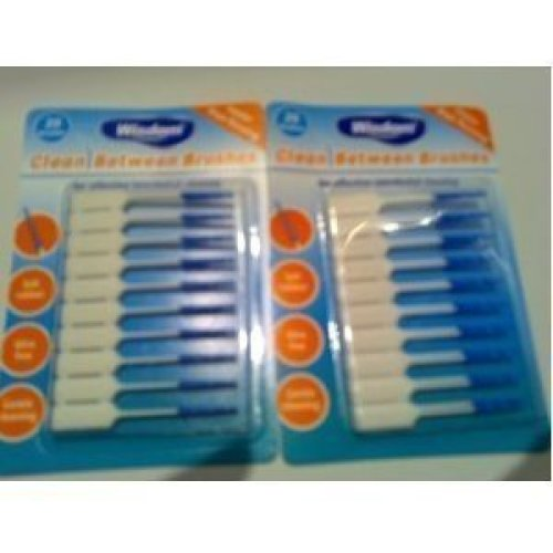 Wisdom Clean Between Fine Blue Brushes - Pack of 2, Total 40