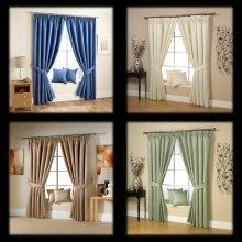 Ravalli jacquard bright twigs lined pencil pleat curtains