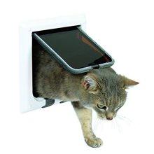 Trixie 4-way Cat Flap - 4way White Door -  flap cat trixie 4way white door