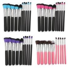 10Pcs Soft Cosmetic Makeup Brushes Set Foundation Eyebrow Brush