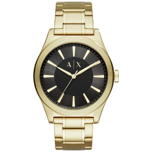 Armani Exchange AX2328 Black Dial Gold-Tone Stainless Steel Watch