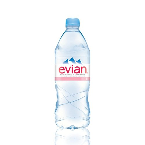 Evian 1 Litre Plastic Bottles (pack of 4)