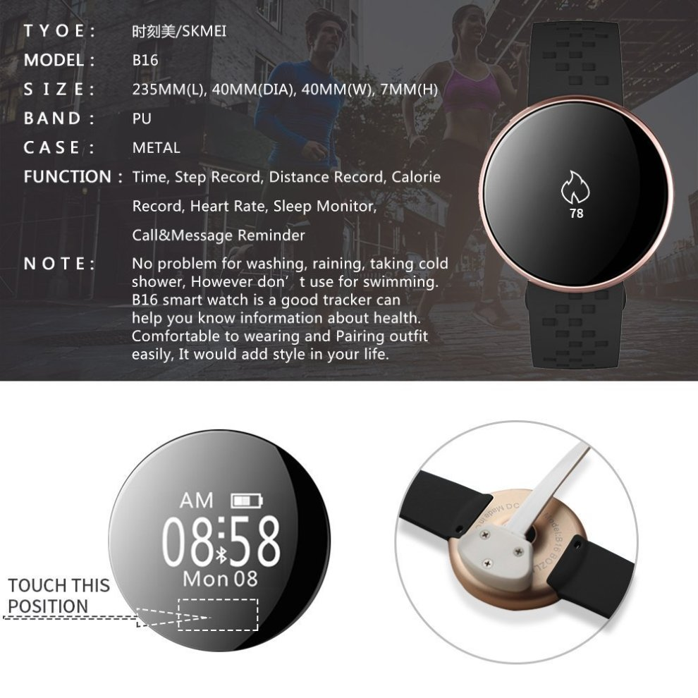 Bozlun Fitness Tracker, Pedometer Watch for steps miles running walking  Smart Bracelet with heart rate and sleep monitor/Camera Remote  Control/Call