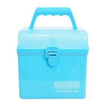 Home/Travel Medicine Box Portable Medicine Cabinet Square Storage Box Blue A