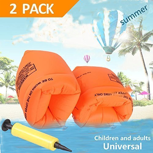 YTH Arm Floaties Inflatable Swim Arm Bands Floater Sleeves Swimming Rings Tube Armlets for Kids Toddlers and Adults