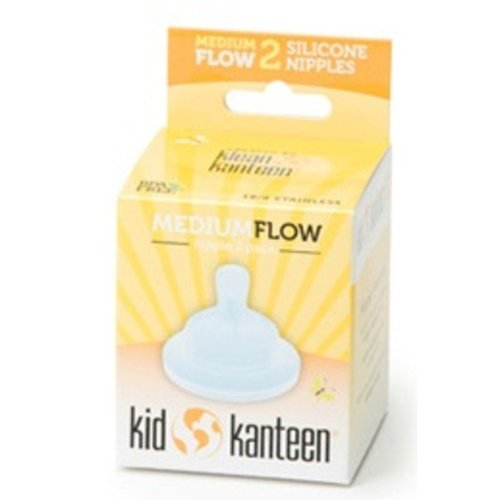 Klean Kanteen Baby Silicone Nipples Clear Pack of 2 (Med Flow)