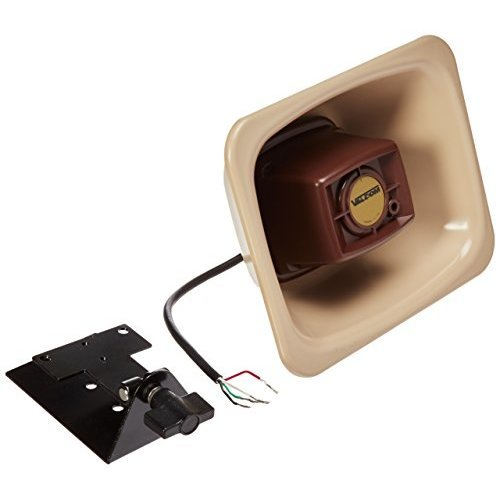 Valcom V-1080-BGE One Way 3-watt Amplified FlexHorn with Mounting Bracket, Beige
