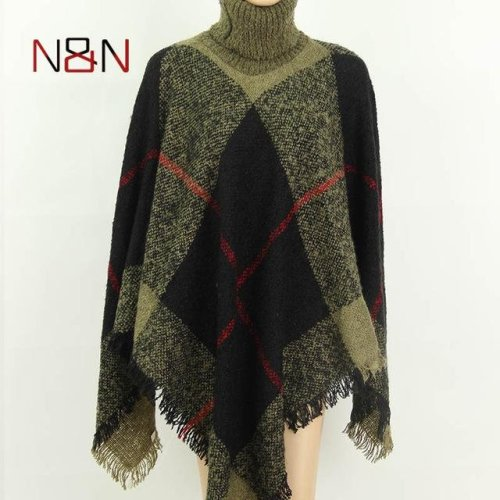 NN Winter Sweater Women Knitted Turtleneck Poncho And Capes Ladies Thick Warm Sweaters And Pullovers Plus Size NN-GL-001