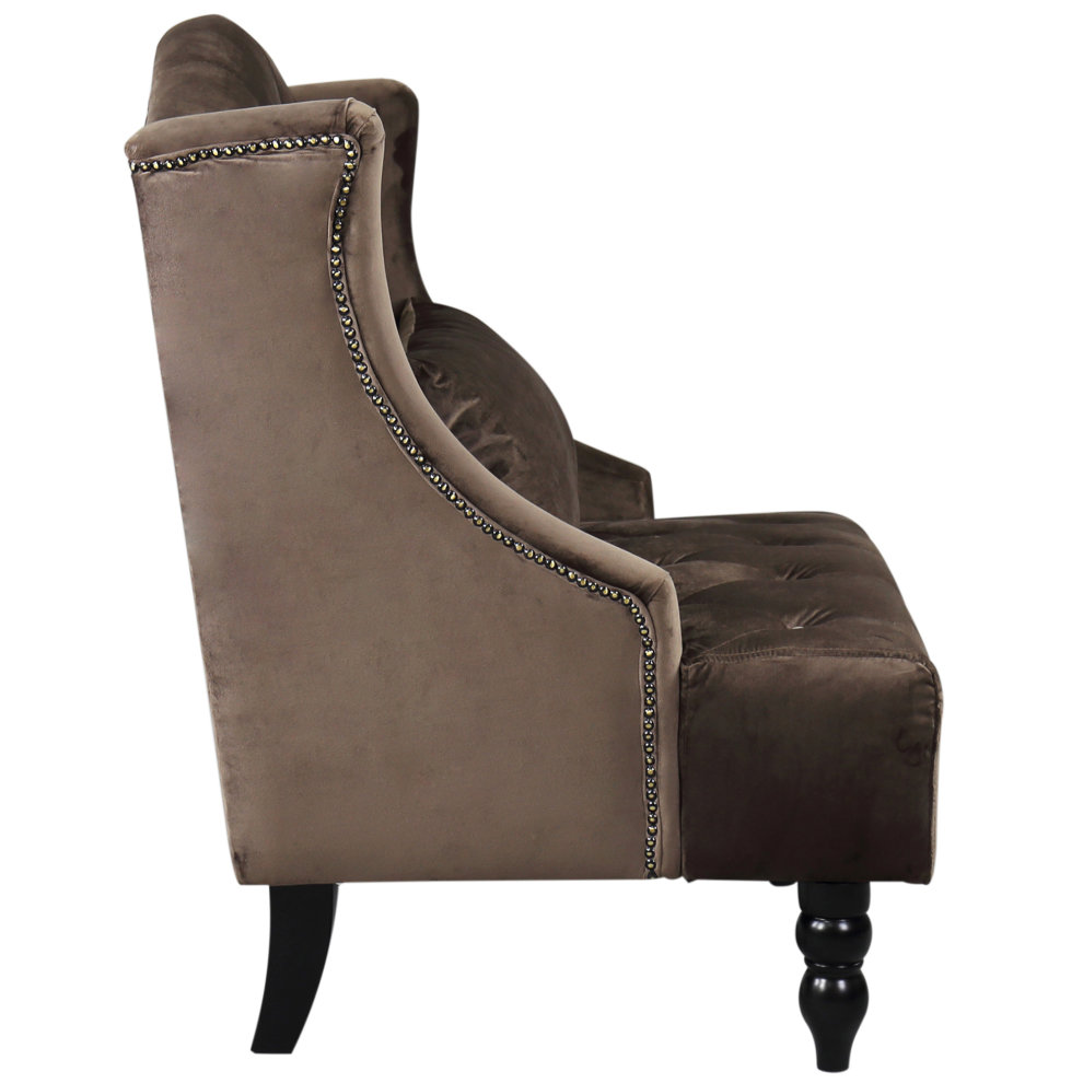 Homcom Tall Wing Back Tufted Chair Accent Vintage Club