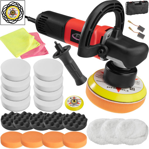 Dual action polisher 710W + 25 piece polishing set