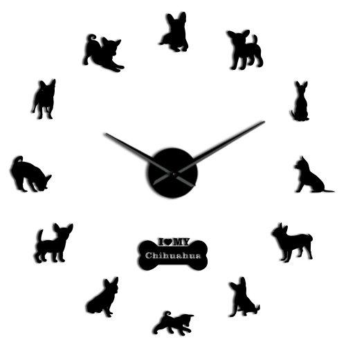 Mexico Dog Breed Chihuahua DIY 3D Acrylic Wall Clock