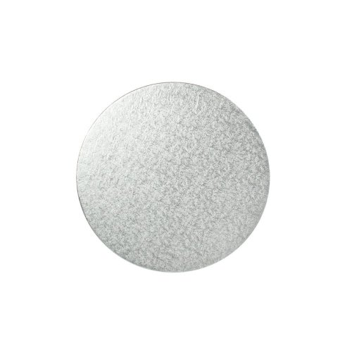 "4"" Thin Silver Round Cake Board 3mm Thick"