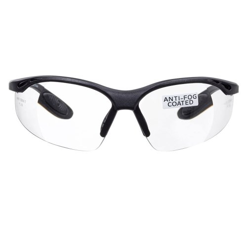 voltX 'Constructor' SAFETY READERS (Clear +1.0 Dioptre) Full Lens Reading Safety Glasses CE EN166f certified - Wraparound Style - Includes Safety...