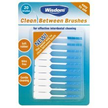 Green Wisdom Clean Between Brushes - Interdental Large Purple 20 Pack Sizes x -  wisdom clean between brushes interdental large purple 20 pack sizes