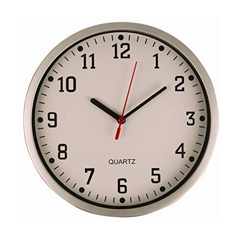 Invero® Large Vintage Round Modern Home Bedroom Living Room Kitchen Retro Time Wall Clock Quartz