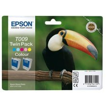 Epson Stylus Photo (Twin Pack) T009 colour ink cartridge C13T009402