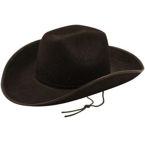 b69ed1aace524 Henbrandt Cowboy Hat - Black - cowboy hat fancy dress black wild west adult  texas party on OnBuy