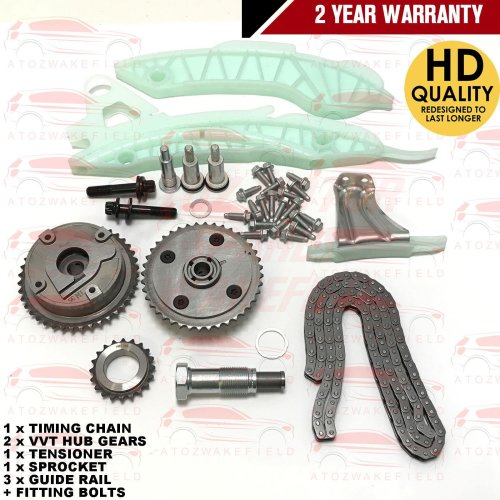FOR BMW 120i 316i N13B16A 1.6 TIMING CHAIN TENSIONER GUIDES VVT HUB GEARS KIT